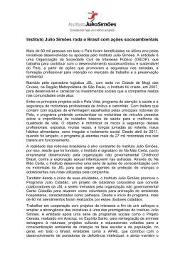 Instituto Julio Simões roda o Brasil com ações socioambientais
