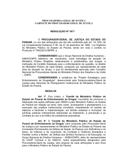 Resolução nº 1617/2012 - Comitê Para Drogas MPRN