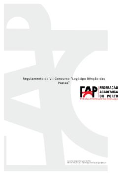 """Regulamento do VII Concurso """"Logótipo Bênção das Pastas"""""""