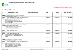 Compras Período 2014 Obras e Serviços de Engenharia