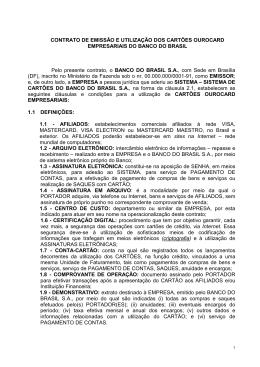 Contrato de Emissão e Utilização dos cartões