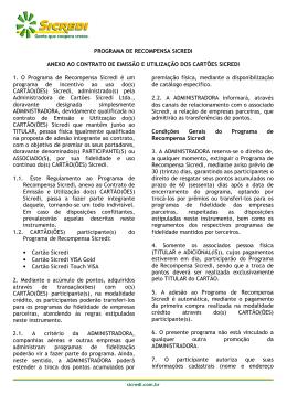 PROGRAMA DE RECOMPENSA SICREDI ANEXO