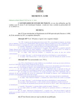 DECRETO N. 12.500