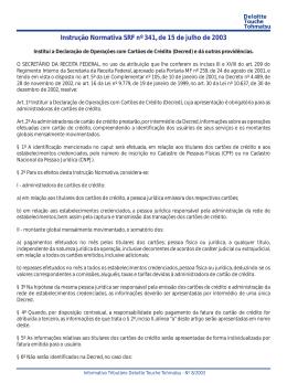 Instrução Normativa SRF nº 341