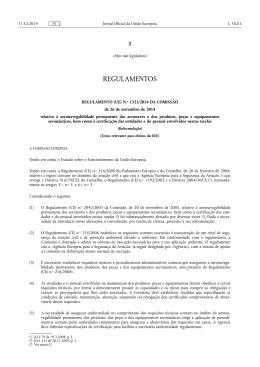 REGULAMENTO (UE) N.o 1321/•2014 DA COMISSÃO