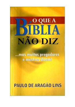O que a bíblia não diz