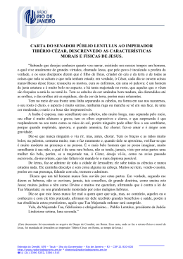 CARTA DO SENADOR PÚBLIO