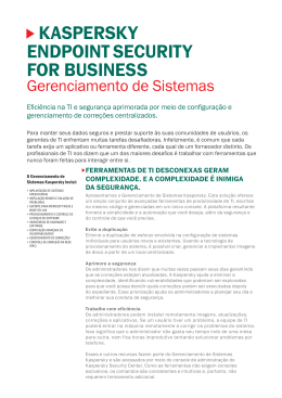 KASPERSKY EndPointSECURitY FoR BUSinESS