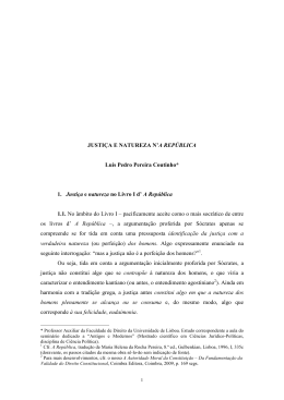 JUSTIÇA E NATUREZA N`A REPÚBLICA Luís Pedro Pereira