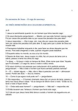 AS TRÊS DIMENSÕES DA CEGUEIRA ESPIRITUAL