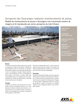 aeroporto dos Guararapes implanta monitoramento de pistas.