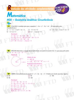 Resolução das atividades complementares Matemática M20