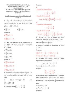 Cálculo III - Universidade Federal do Pará
