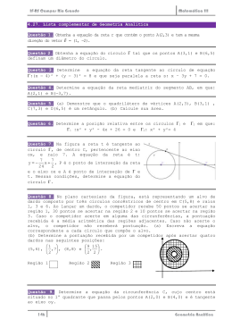 4.27. Lista complementar de Geometria Analítica Questão 1