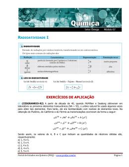 Radioatividade - Portal de Estudos em Química