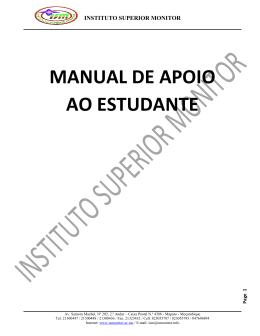 MANUAL DE APOIO AO ESTUDANTE