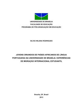 Jovens oriundos de países africanos de Língua Portuguesa na