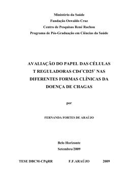 AVALIAÇÃO DO PAPEL DAS CÉLULAS T REGULADORAS CD4