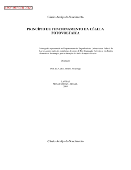 princípio de funcionamento da célula fotovoltaica