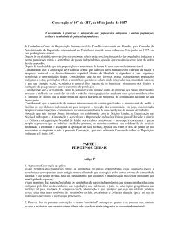 Convenção nº 107 da OIT, de 05 de junho de 1957