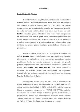 PREFÁCIO Poeta Lindoaldo Vieira, Naquela