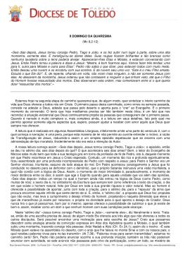 II DOMINGO DA QUARESMA (Mc 9,2-12) «Seis
