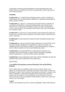 A Declaração Universal dos Direitos Humanos é um dos - CRP-RJ