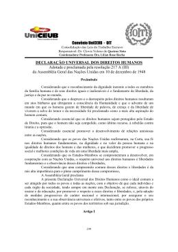Declaração Universal dos Direitos Humanos.