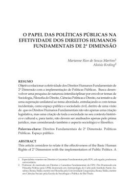 o papel das políticas públicas na efetividade dos direitos humanos