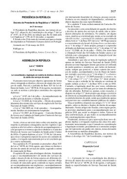 Direitos e deveres do utente dos serviços de saúde (Lei nº 15/2014)