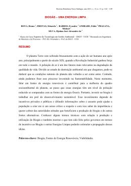 BIOGÁS - Universidade Castelo Branco