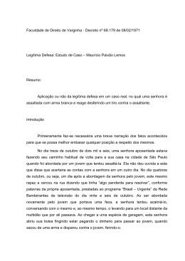 07. Legítima Defesa Estudo de Caso