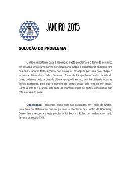 SOLUÇÃO DO PROBLEMA
