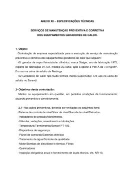 anexo xii – especificações técnicas serviços de