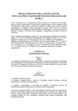 regulamento para utilização de instalações e equipamentos da
