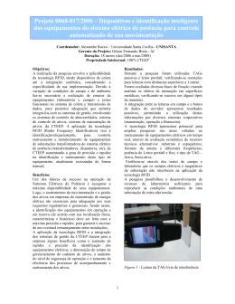 Projeto 0068-017/2006 – Dispositivos e identificação