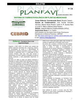 BOLETIM Nº 24 - CEBRID - Centro Brasileiro de Informações sobre