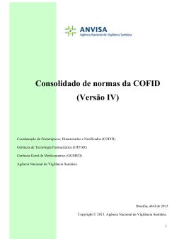 Consolidado de normas da COFID