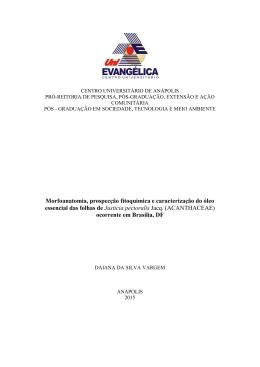 Titulo - UniEVANGÉLICA