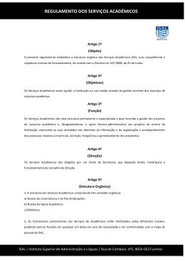 Regulamento dos Serviços Académicos - PDF