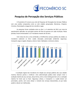 percepção dos serviços públicos/comparativo.