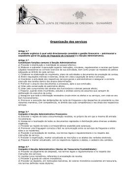 Organização dos serviços - Junta de Freguesia de Creixomil