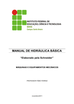 MANUAL DE HIDRÁULICA BÁSICA - Blog do Professor Fábio Ferraz