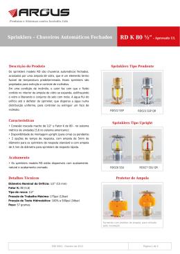 Sprinkler Modelo RD K-80