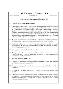 Plano de Outorga de Opções de Ações Itaú Unibanco Holding
