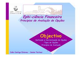 Introdução às Opções - II - Ephi