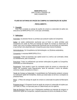 MARCOPOLO S.A. CNPJ Nº 88.611.835/0001