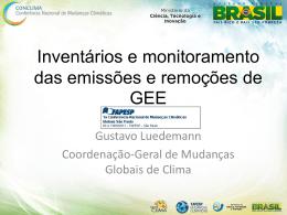Inventários e monitoramento das emissões e remoções de