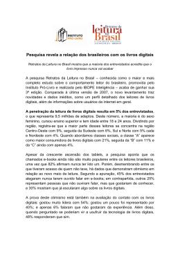 Pesquisa revela a relação dos brasileiros com - Instituto Pró