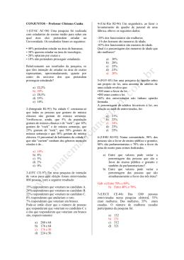 CONJUNTOS – Professor Clístenes Cunha 1-(UFAC AC